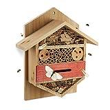 Relaxdays Insektenhotel sechseckige Nisthilfe für...